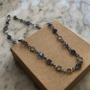 Light & Dark Blue Resin Stone Necklace